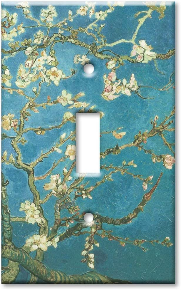 Art Plates - Single Gang Toggle OVERSIZE Switch Plate/OVER SIZE Wall Plate - Van Gogh: Almond Blossoms