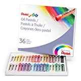 PENTEL PHN36 Oil Pastel Set With Carrying Case,36-Color Set, Assorted, 36/Set (PENPHN36)