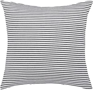 "uxcell Woven Striped Throw Pillow Covers Decorative Square Farmhouse Cushion Covers for Sofa Bedroom Car Chair Black and White 18"" x 18"""