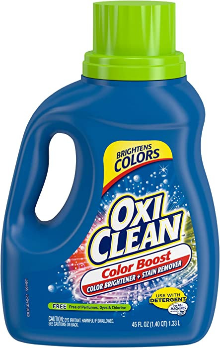 OxiClean Color Boost Color Brightener plus Stain Remover Liquid FREE 45oz
