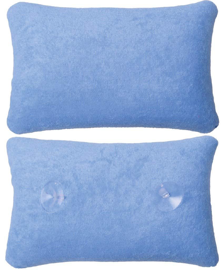 Coussin de baignoire Oreiller Relaxant avec ventouse bleu clair Bestlivings
