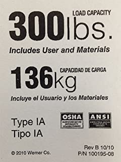 Amazon Com Werner 300 Lb Fiberglass Step Ladder Label Kits By