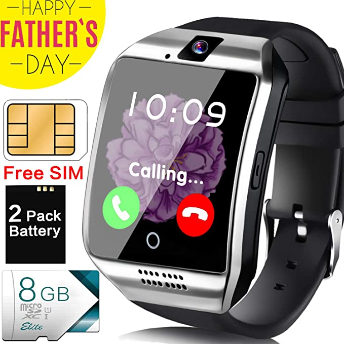 Amazon.com: Smart Watch Android Phone - [Free SIM Card + 8GB ...