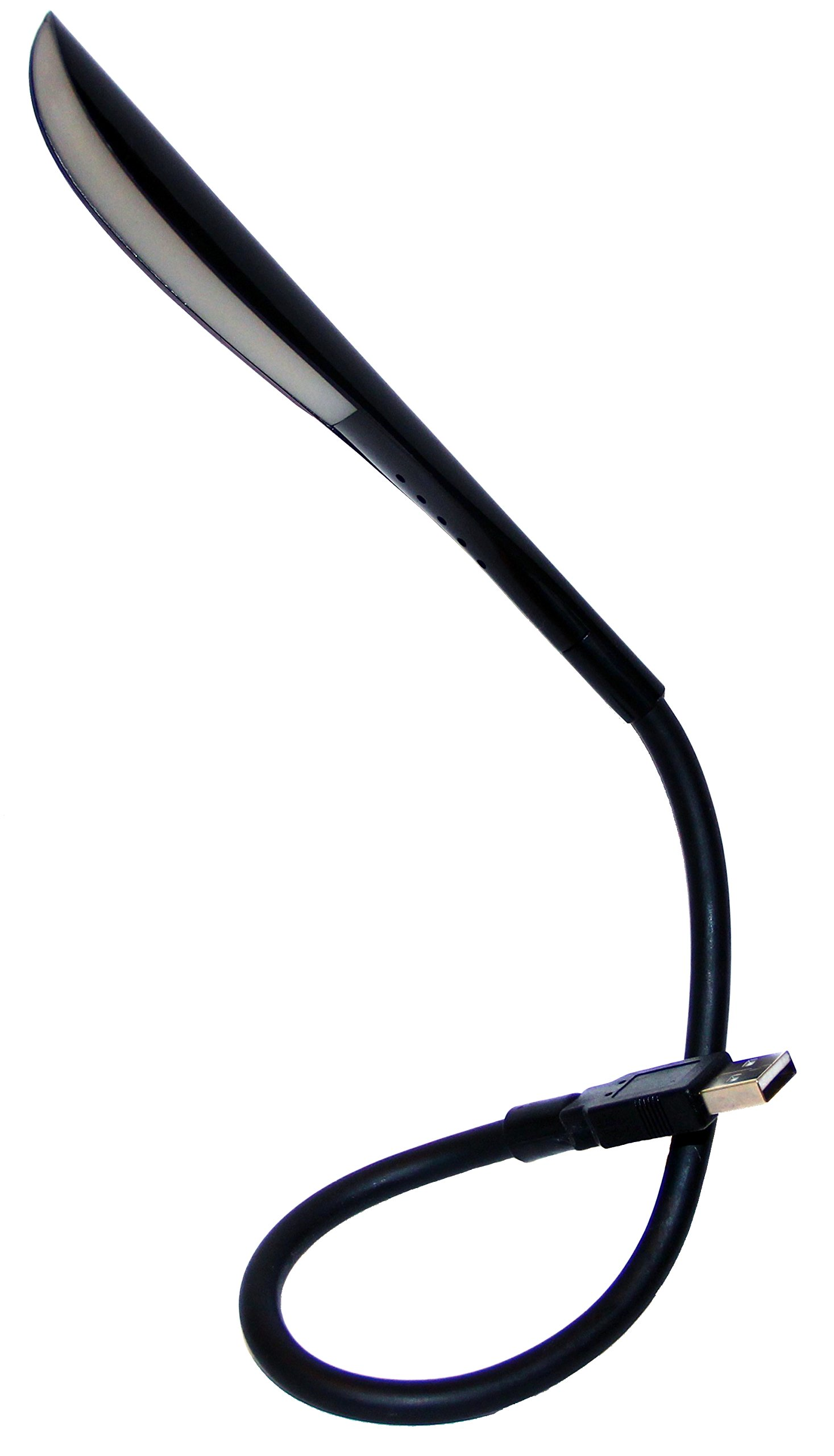 USB Reading Lamp with 14 LEDs Dimmable Touch Switch and Flexible Gooseneck (14 LED, Black)