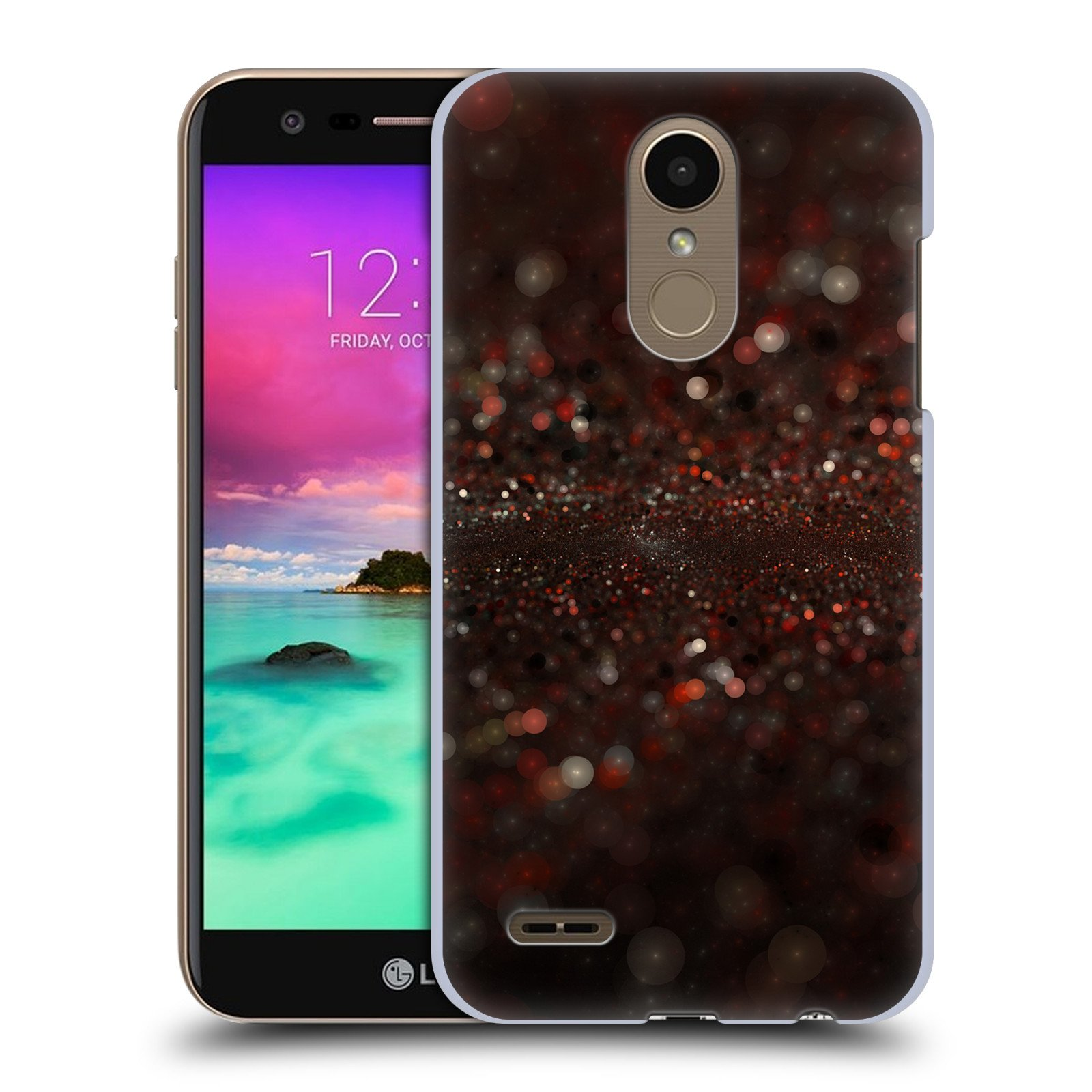 Official Andi Greyscale Spilled Glitter Solar Bokeh Hard Back Case for LG K10 (2018)