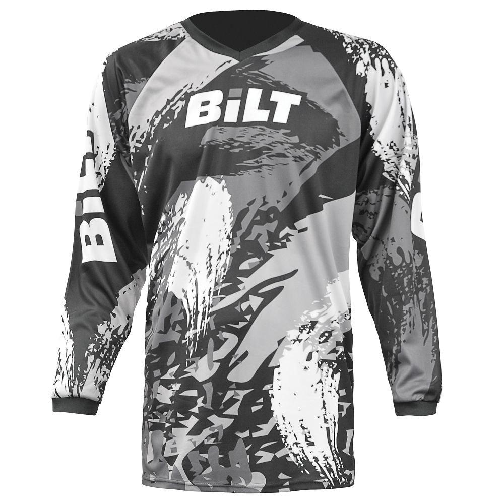 BILT Kid's Amped Off-Road Motorcycle Jersey - MD, Black/Gray
