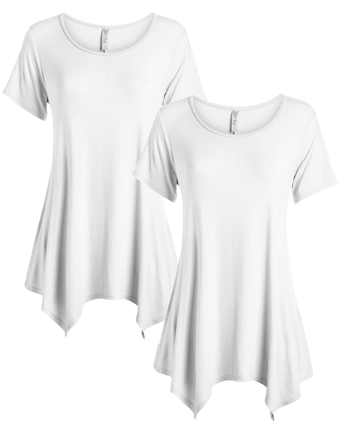 596458af9f1 COMFORT - These loose fit Tunic tops for women is thoughtfully designed  with your personal comfort in mind. The solid Tunics are composed of 95%  rayon ...