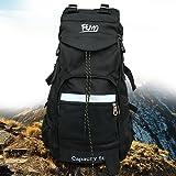 Sac à dos de randonnée Femo Grande capacité de 50L en nylon étanche Sac de trekking en tissu pour homme et femme