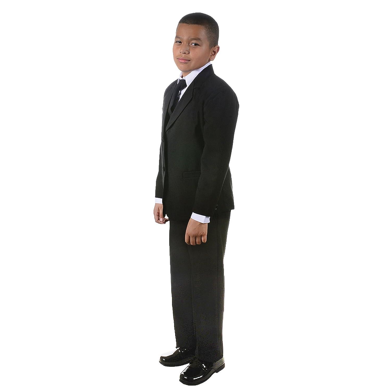 NancyAugust Classic Toddler Boy Formal Suit in Black 2T-20-Black