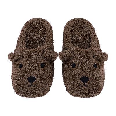 Cute Warm House Slippers Women Indoor Cartoon Plush Fleece Booties Ladies Cozy Mules Footwear Slip-on SoleAnkle Boots   Slippers