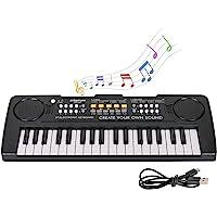 sanlinkee Teclado Piano Niños, 37 Teclas Electrónico Música Teclado Piano Mini Teclado Portátil Enseñanza Teclado…