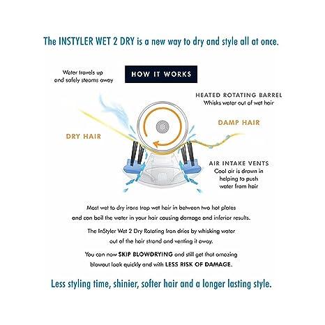 Plancha giratoria Dry 2 Wet de 32 mm con 4 ajustes de calor, máquina profesional de salón para alisar, rizar y ondular, con rodillo de cerámica con ...