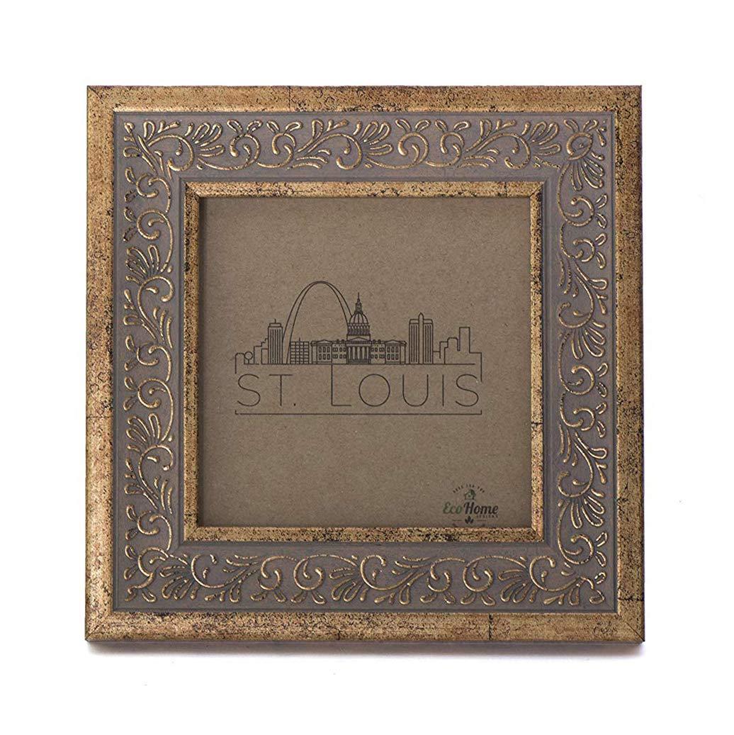 Frames by EcoHome Mount Desktop Display 5x7 Picture Frame Ornate Antique Gold