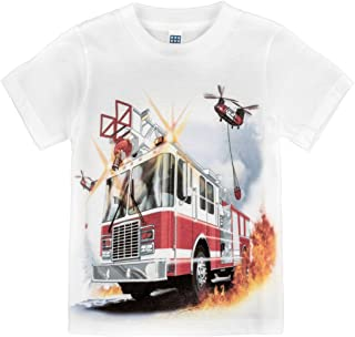 product image for Shirts That Go Little Boys' Fire Truck & Helicopters T-Shirt