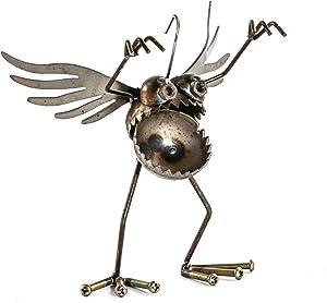 Sugarpost Mini Metal Gnome Be Gones Angel Hanging Ornament Sculpture