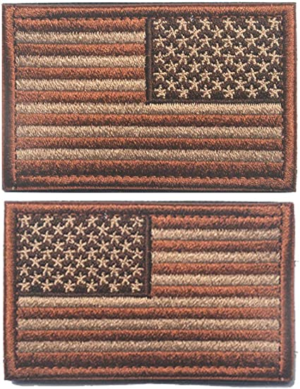 Easyinsmile American Flag Patch US Flag Embroidery Armband Patch 3 x 2 1 Left+1 Right Army Green