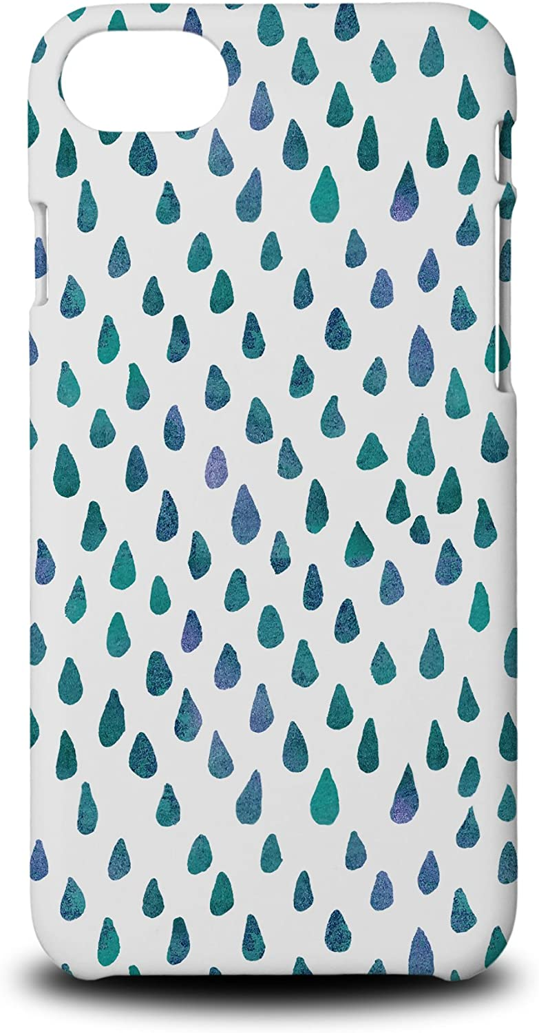 Foxercases Design (2020) #1 Watercolor Raindrop Pattern 59 Hard Phone Case Cover for Apple iPhone 7/8 / SE (2020)