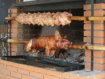 LAMINADO 32 x 24 Póster: lechón carne Pig parrilla barbacoa ...