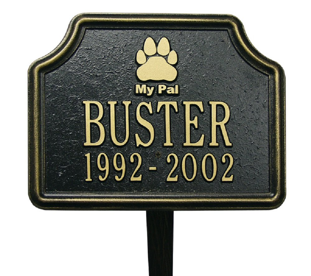 'My Pal' Paw Pet Memorial Sign Finish: Black and Gold