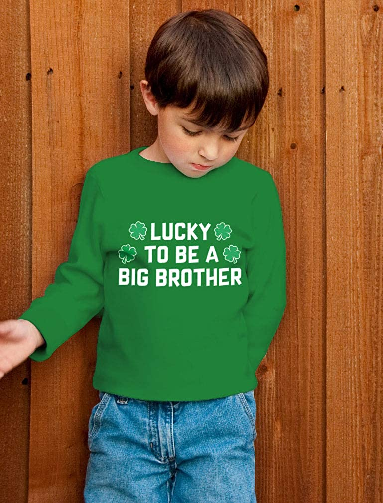 Patricks Lucky to Be a Big Brother Toddler//Kids Long Sleeve T-Shirt St