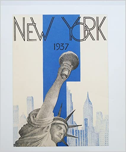 Art Deco Poster New York.Amazon Com New York Art Deco Poster New York 1937 Posters Prints