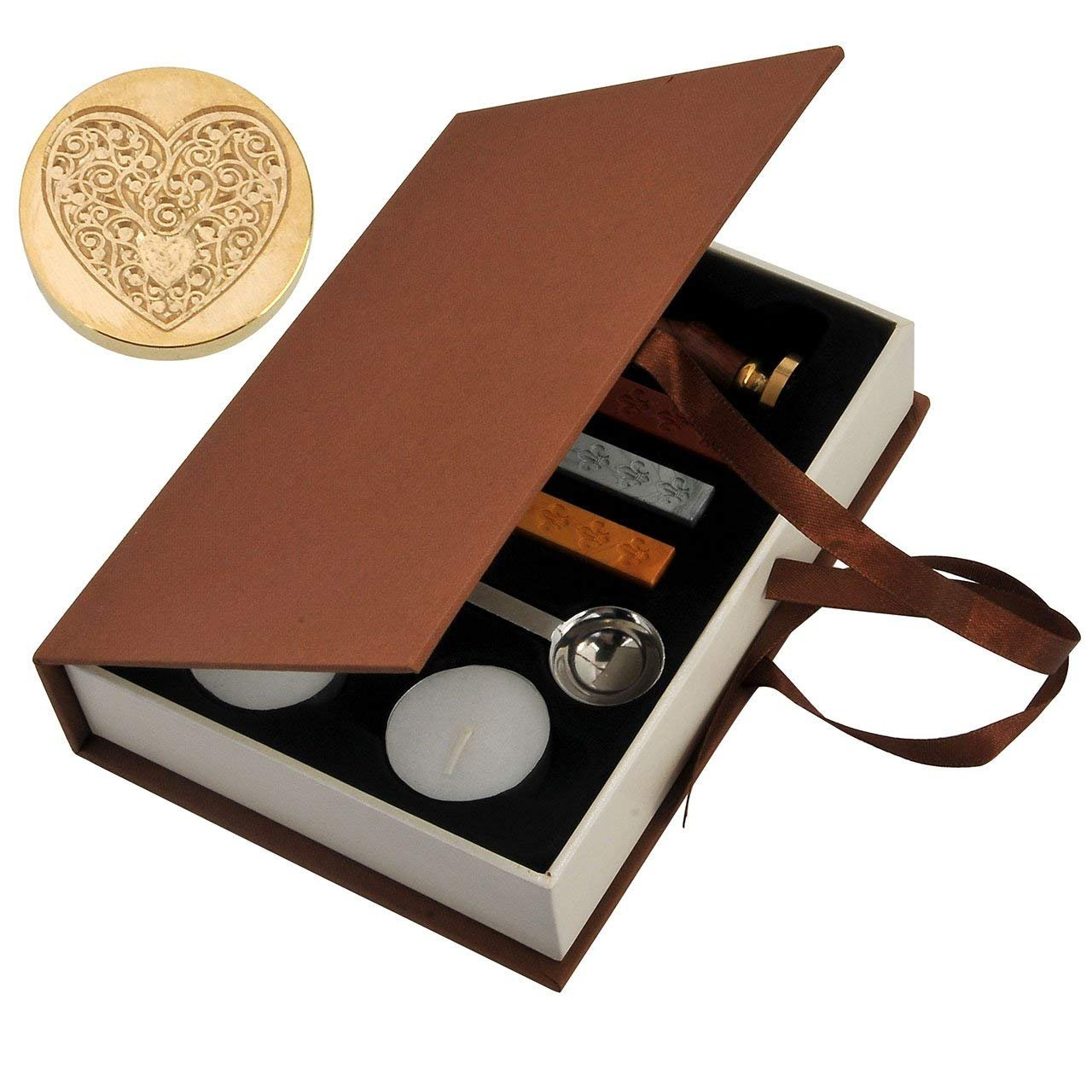 VieVogue - Set de sellos de cera para sellar la cera, diseño vintage clásico Flower