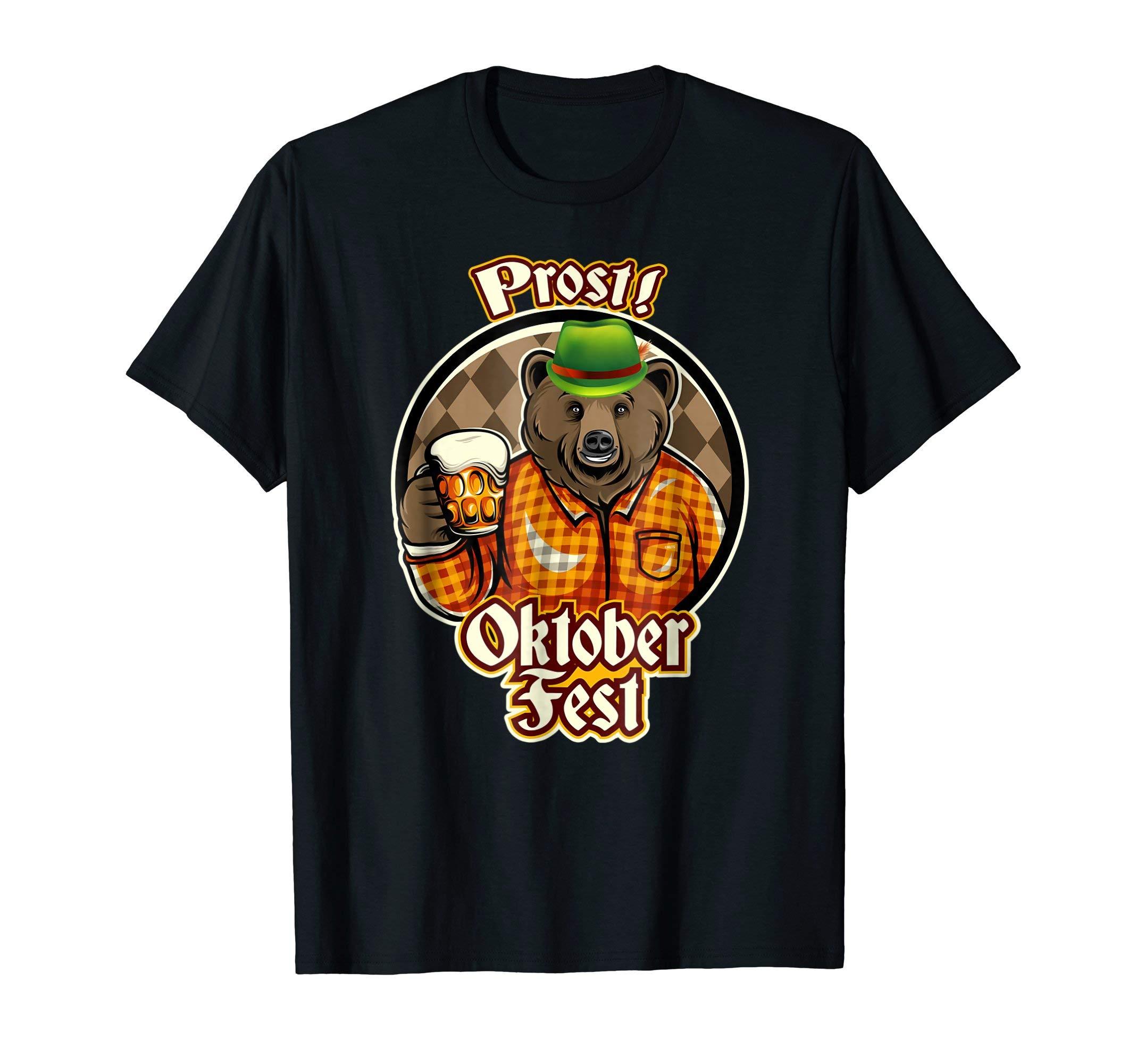 Prost-Oktoberfest-Bear-Shirt-Beer-Gift-T-Shirt-Tee