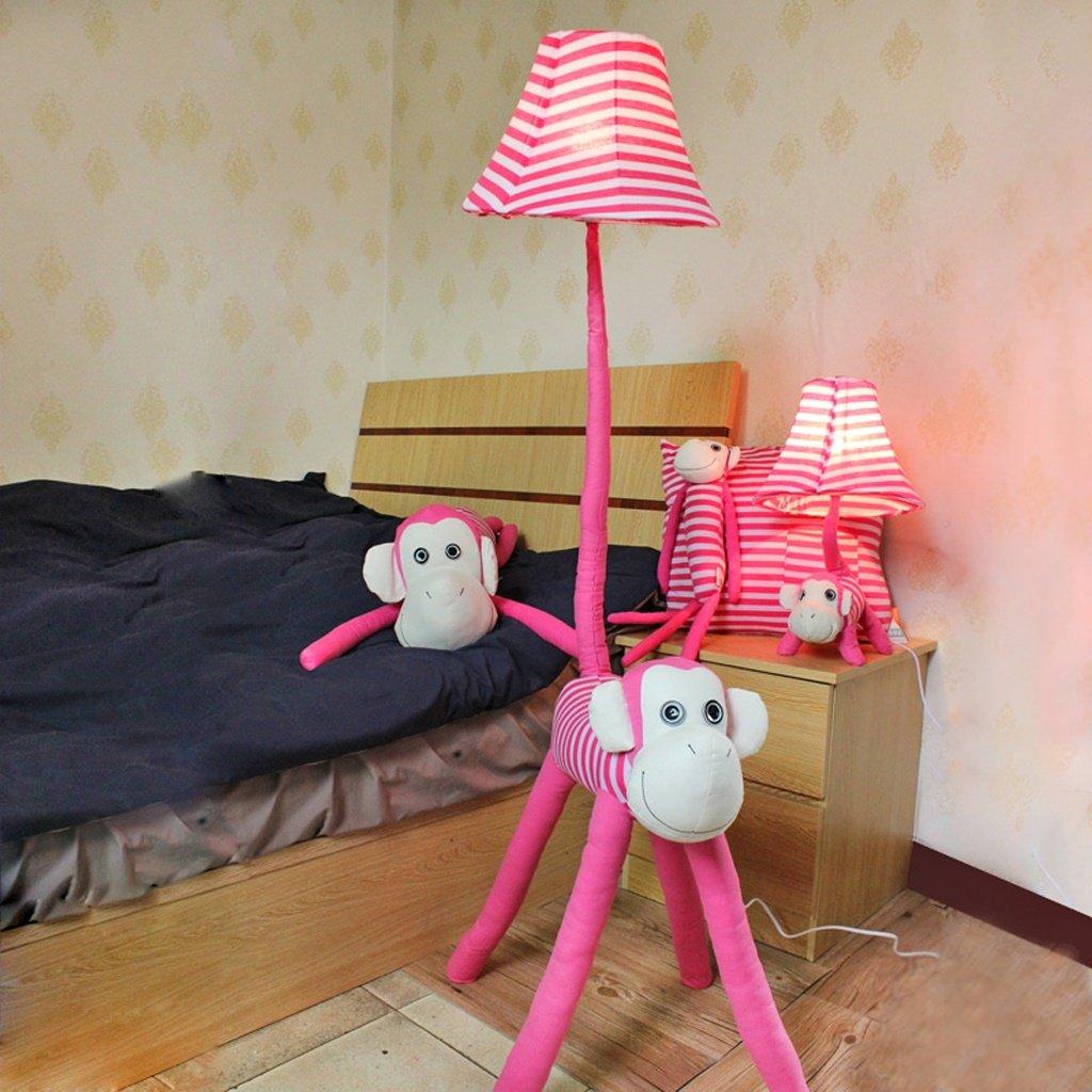 Edge to Stehlampe Kreative Cartoon Stehlampe Rosa Affe Stehlampe Wohnzimmer Schlafzimmer Nachttischlampe Kinderzimmer Stehlampe