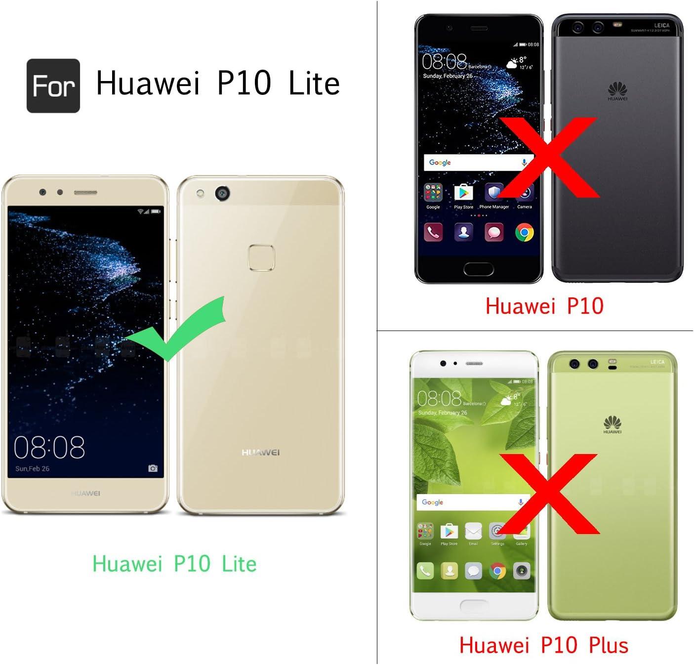 LeYi Funda Huawei P10 Lite Silicona Purpurina Carcasa con HD Protectores de Pantalla,Transparente Cristal Bumper Telefono Gel TPU Fundas Case Cover Para Movil Huawei P10 Lite ZX Oro Rosa: Amazon.es: Electrónica