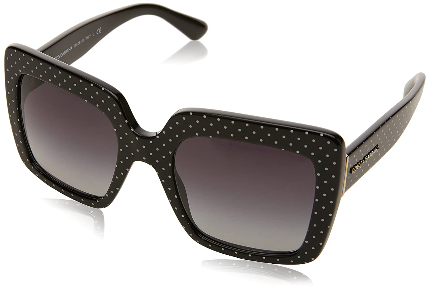 Amazon.com: Dolce & Gabbana DG4310 31268G (Black - White ...