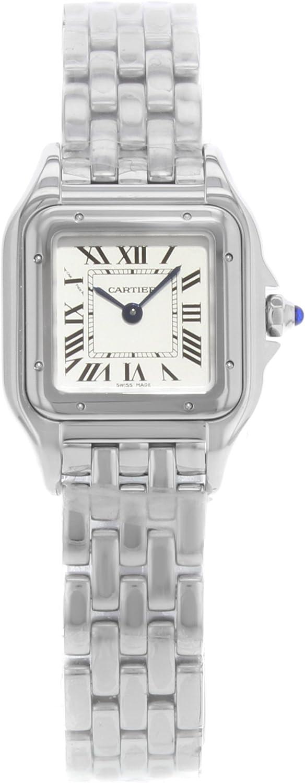 Cartier Panthere de Cartier WSPN0006 - Reloj de Acero Inoxidable para Mujer, Esfera Plateada