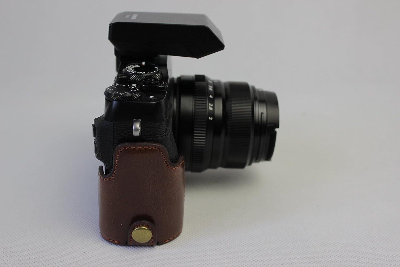 Zakao PU mezza apertura inferiore modello telefono custodia per fotocamera con cinghia da polso copertura protettiva bag custodia per Fujifilm Fuji x-e3/XE3 x-e3/case