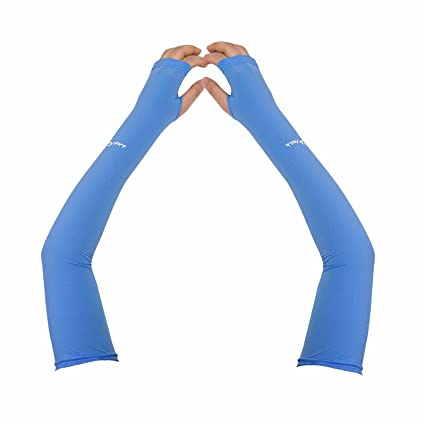 89dcc91210d61 Compression Arm Sleeve for Men Women Youth - UV Sun Protection Sleeves Hand  Cover Style with