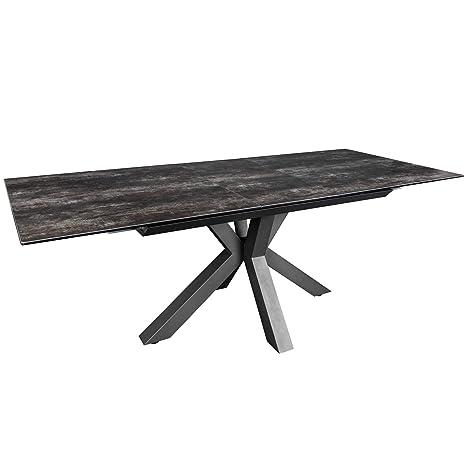 Tisch Ausziehbar Keramikplatte.Invicta Interior Moderner Keramik Esstisch Eternity 180 225cm Lava Ausziehbar Konferenztisch Küchentisch Tisch