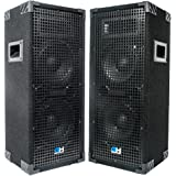 "Grindhouse Speakers GH28L-Pair Pair of Dual 8"" 2 Way Passive PA/DJ Loud Speakers 1800 Watts"