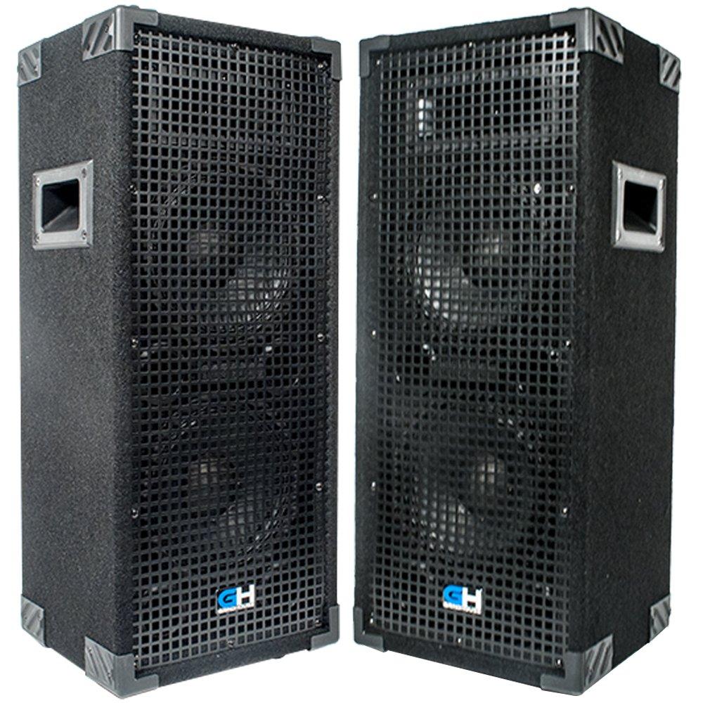 Grindhouse Speakers - GH28L-Pair - Pair of  Passive Dual 8 Inch 2-Way PA/DJ Loudspeaker Cabinets  - 900 Watt  each Full Range PA/DJ Band Live Sound Speaker
