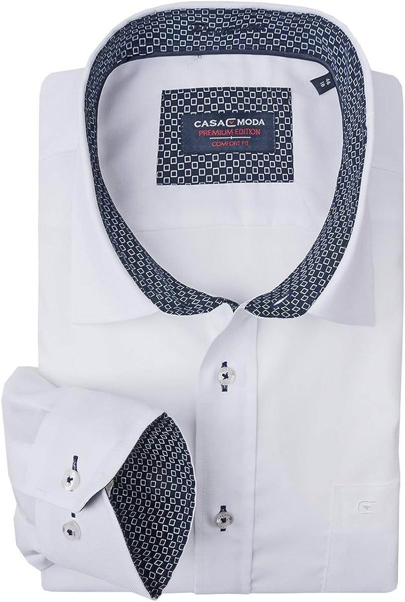 CASA MODA XXL Camisa de Cuadros Azules-Blancos, 48-70:44 ...