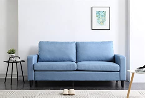 NHI Express Track Arm Sofa Not Applicable, Blue