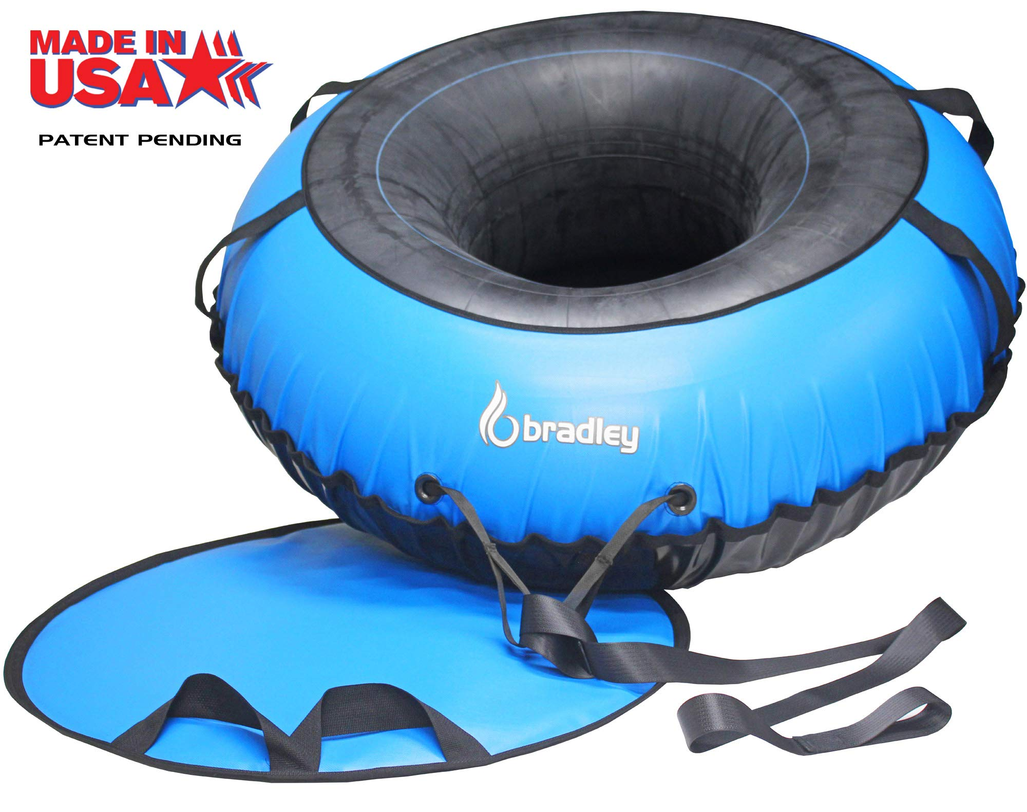 Bradley Ultimate Tow-able Snow Tube Sled and 60'' Heavy Duty Cover