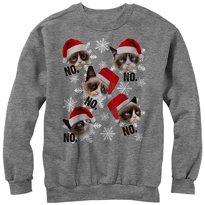 Grumpy Cat Ugly Christmas Sweater.Grumpy Cat Men S Ugly Christmas Sweater Snowflake No Sweatshirt