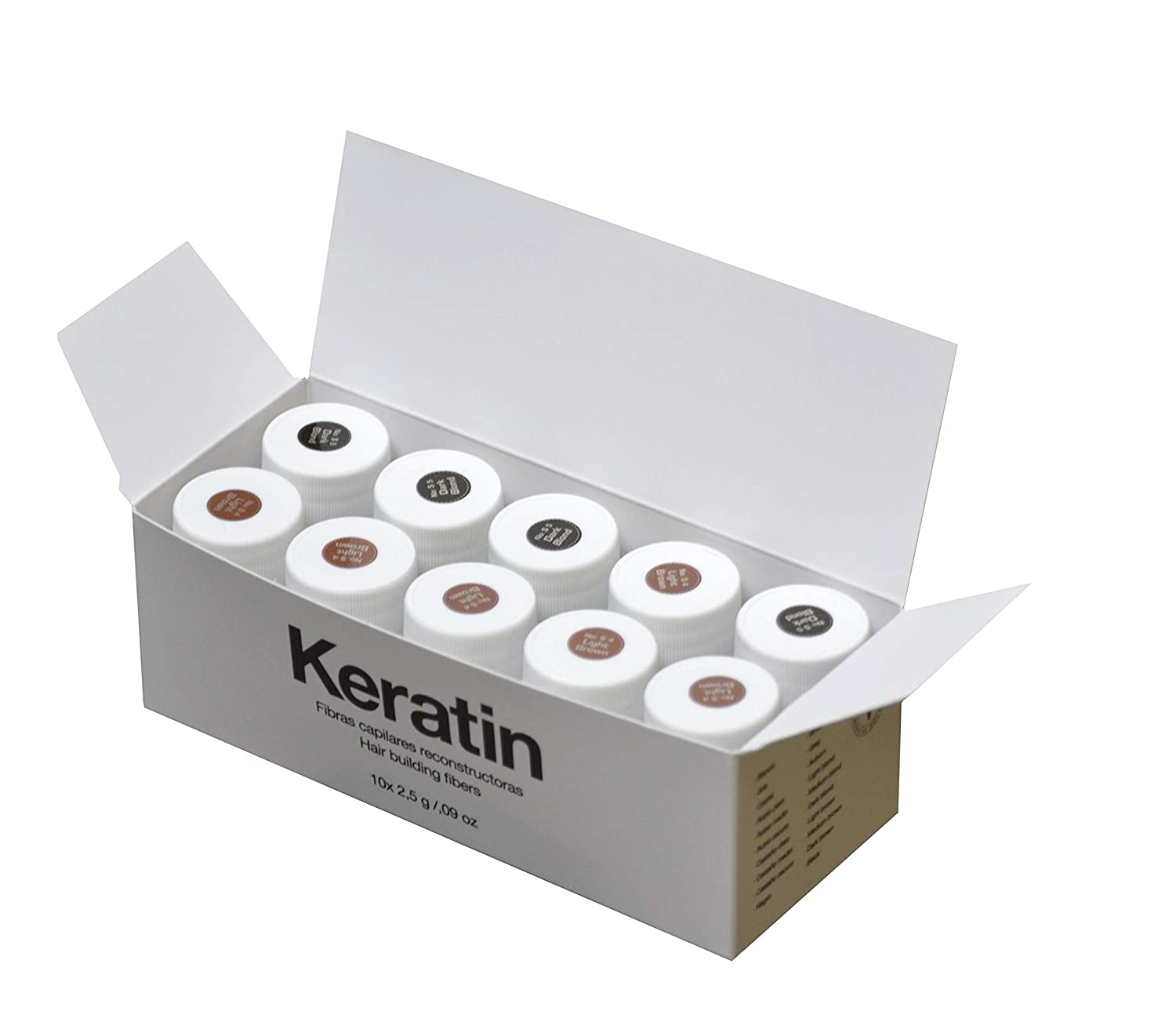 Amazon.com : The Cosmetic Republic Keratin Fibres - Pack of ...