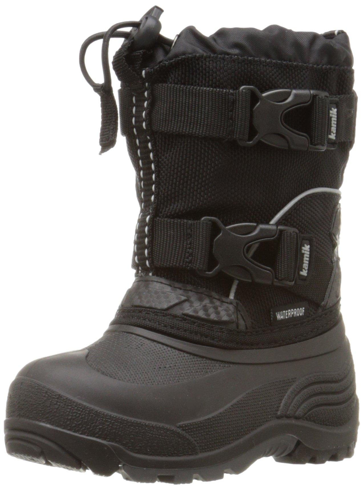 Kamik Glacial Snow Boot (Toddler/Little Kid/Big Kid), Black, 8 M US Toddler