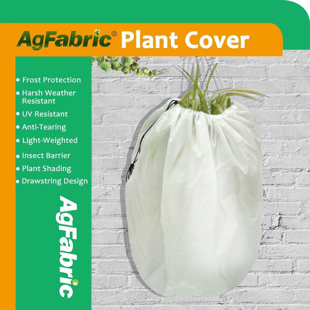 Agfabric Plant Cover Warm Worth Frost Blanket - 1.5 oz Fabric of 48''x55'' Shrub Jacket, Rectangle Hanging Plant Cover for Season Extension&Frost Protection by Agfabric