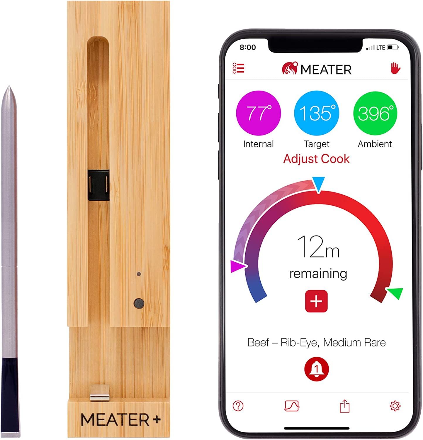 Best Bluetooth Meat Thermometer-Most impressive wireless smart thermometer: New MEATER+165ft Long