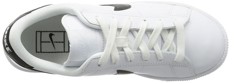 NIKE Womens Tennis Classic Round Toe Lace-up Fashion Sneakers B015SZ093E 8.5 B(M) US|White/Black