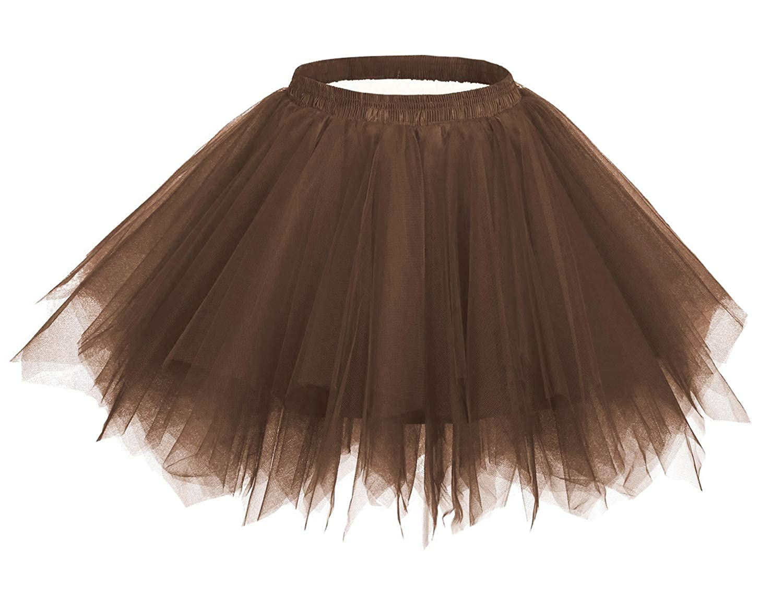 Comall Women/Girls Layered Tutu Skirts Short Tulle Skirts Halloween Cosplay