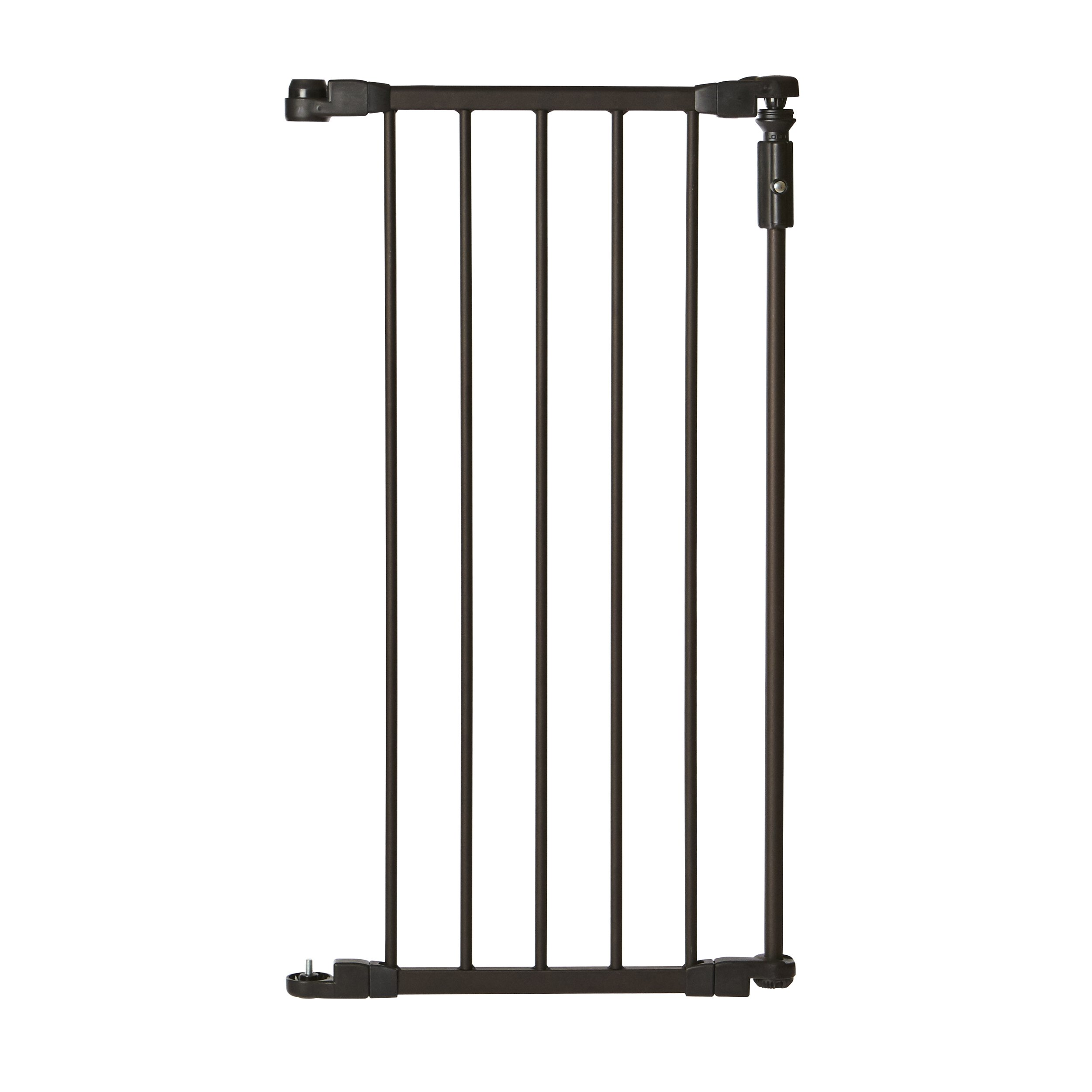 ''Deluxe Décor Single Panel Gate Extension'' by North States: 1 extension for''Deluxe Décor Gate'' (Adds up to 15'' width, 30'' tall, Matte bronze) by North States