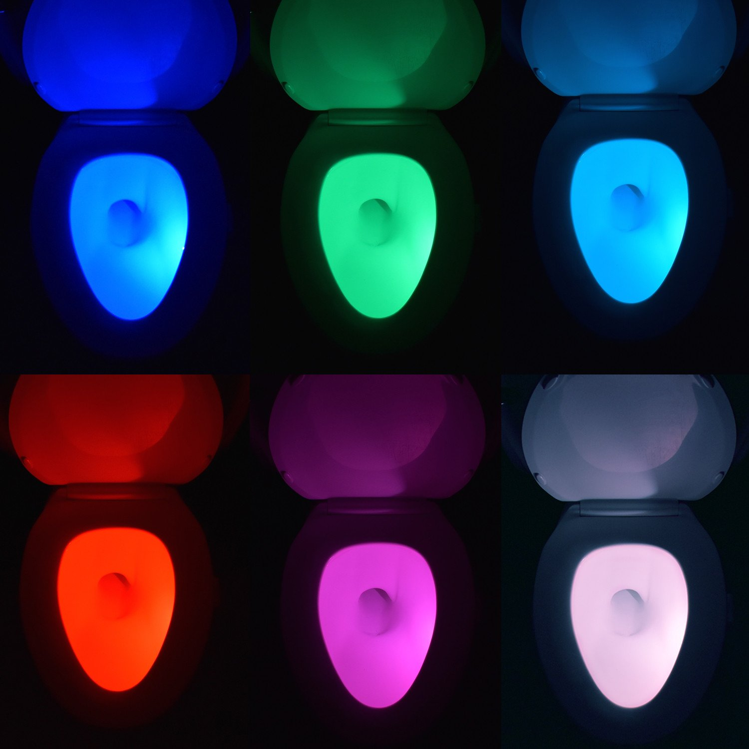 goodhome waterproof motion light sensor led auto shut off 16 goodhome waterproof motion light sensor led auto shut off 16 colors toilet night light with 5 brightness settings and aa batteries amazon com