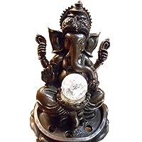 Innenbrunnen Zimmerbrunnen Meditation Ganesha LED Multicolor ca. 30 cm Höhe