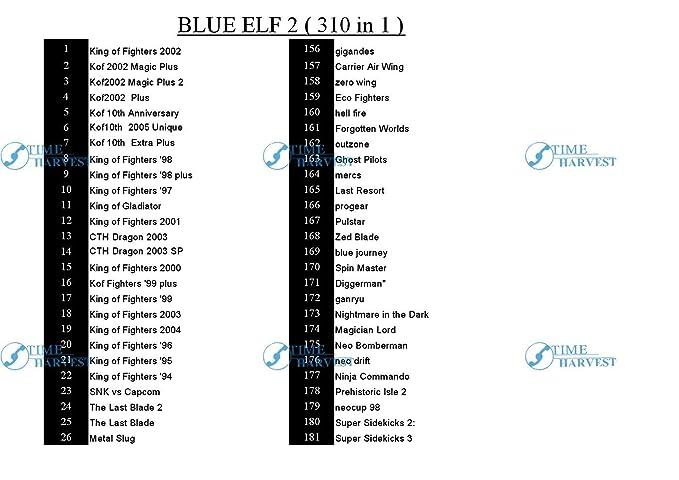 3 pcs BLUE ELF 2 GAME PCB-310 In 1 Blue Elf 2009 arcade game ...